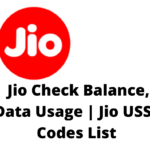USSD Code For JIO : How to Check Balance, Data Usage, Jio Number